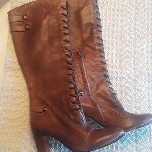 NWOT Sam Edelman Lace Up Boots Size 9 1/2